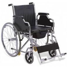 WC Aparatlı 6 Tekerlekli Tekerlekli Sandalye